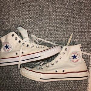 White Hi Top Converse